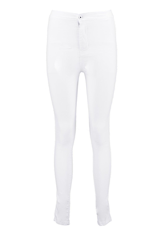 Jeans super alto de skinny Blanco talle UvxAPqU