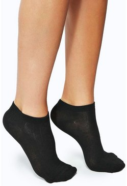 Dam Black Trainer Socks 3 Pack
