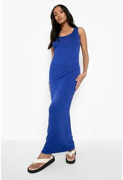Womens Cobalt Petite Sandy Scoop Neck Maxi Dress