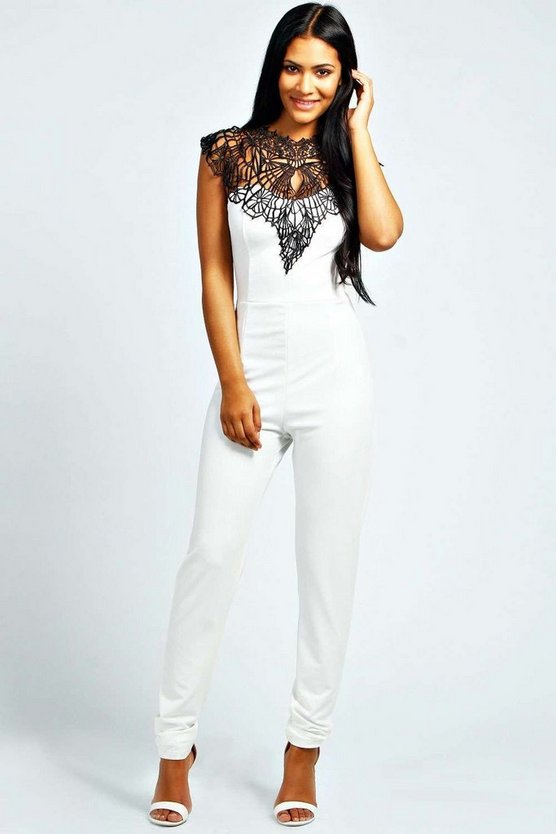 Caged Neck Sleeveless Jumpsuit
