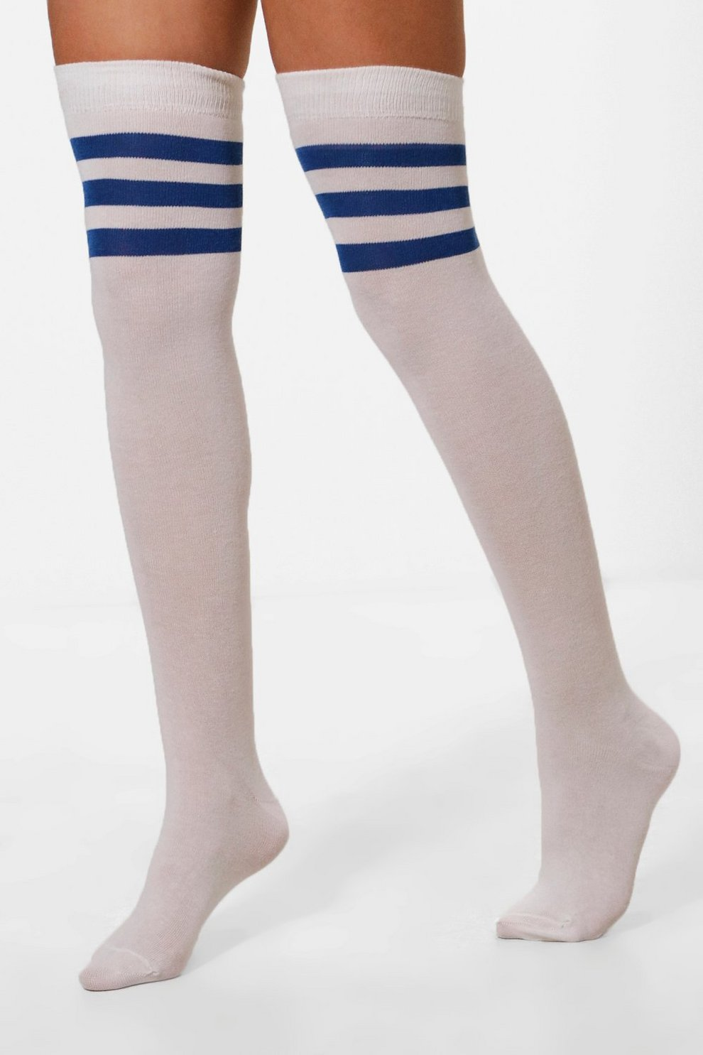682543ada Stripe Top Knee High Socks   Boohoo