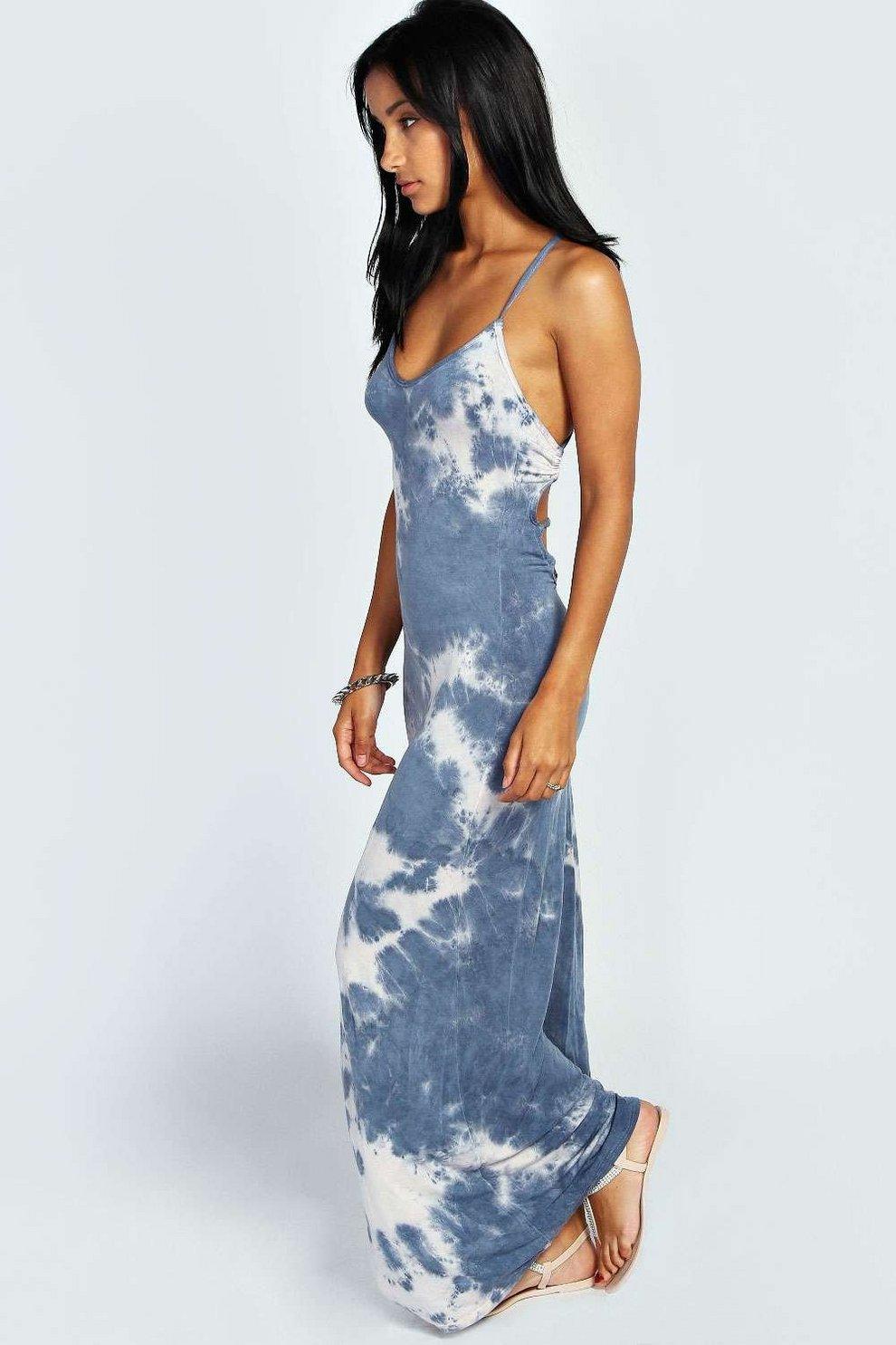 98af6303a02 Tie Dye Strappy Back Maxi Dress