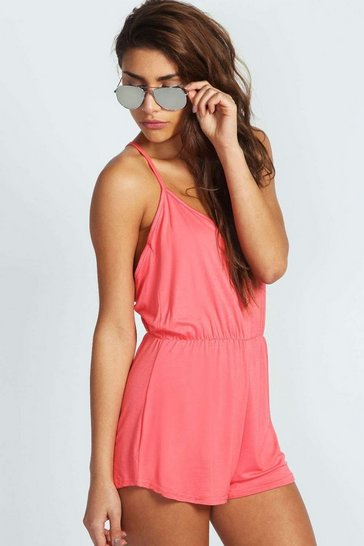 Coral Basic Strappy Back Playsuit