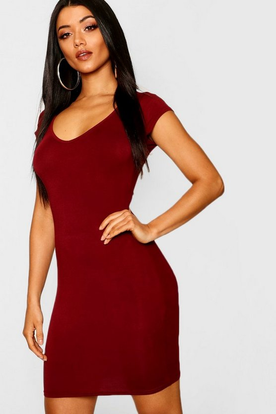Sweetheart Neck Jersey Bodycon Dress