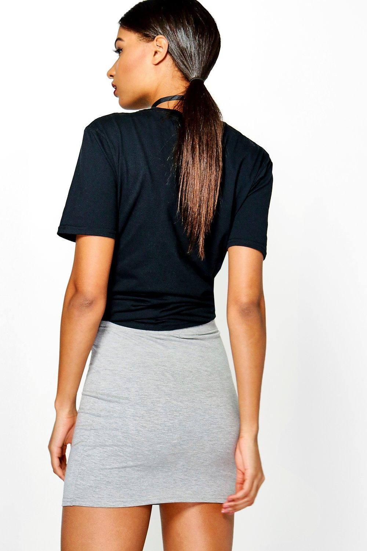 boohoo damen maisy schlichter kurzer minirock aus jersey. Black Bedroom Furniture Sets. Home Design Ideas