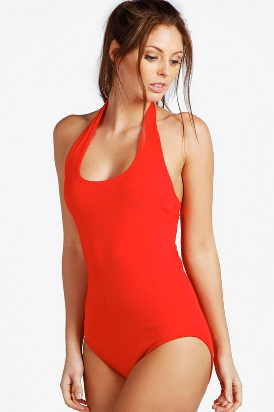 Basic Halter Neck Bodysuit