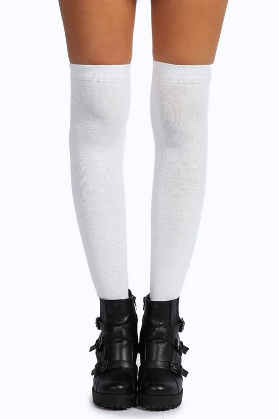 Womens White Knee High Socks
