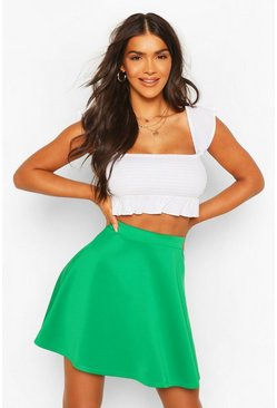 Emerald Basic Fit And Flare Skater Skirt