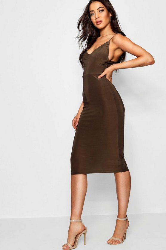 Fließendes Bodycon-Midikleid