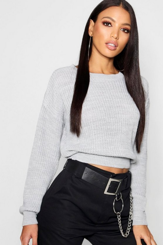 Crop Fisherman Jumper