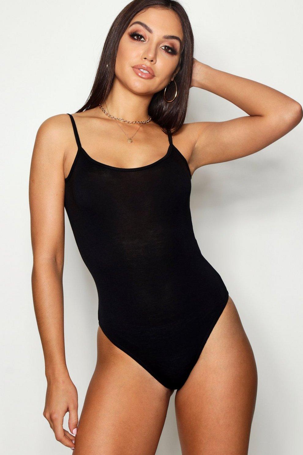 Basic Spaghetti Strap Bodysuit  22b101040