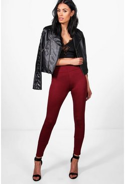 Womens Berry Basic High Waist Viscose Leggings