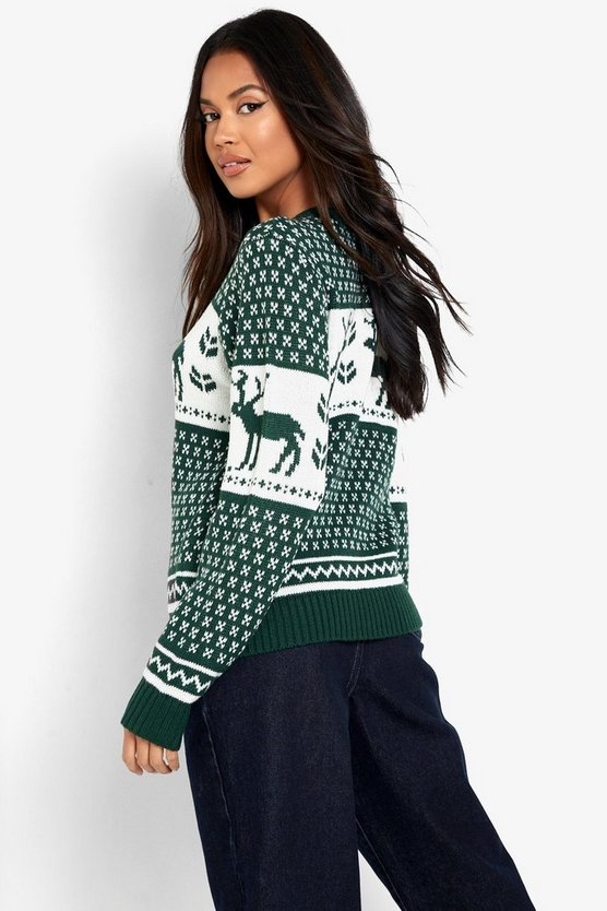Snowflake and Reindeer Knitted Jumper