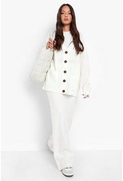 Cream Boyfriend Cardigan