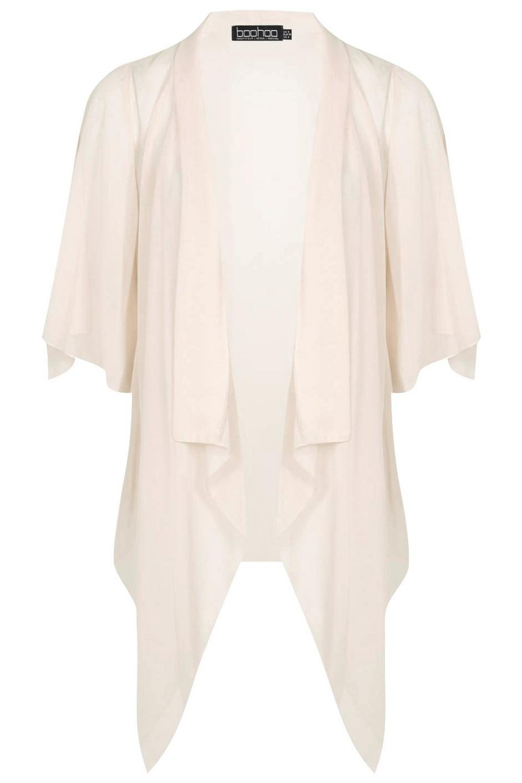 carne en Kimono chifón de cascada color 7YqRS