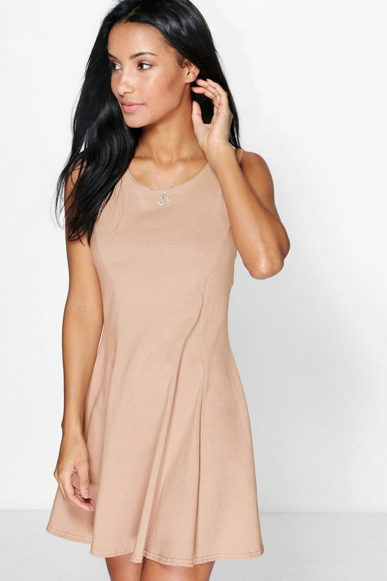 Seam Detail Skater Dress