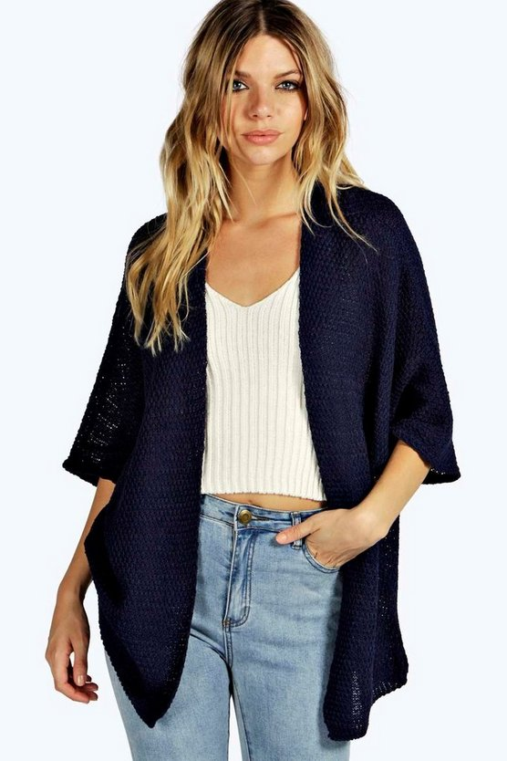 Loose Knit Batwing Cardigan