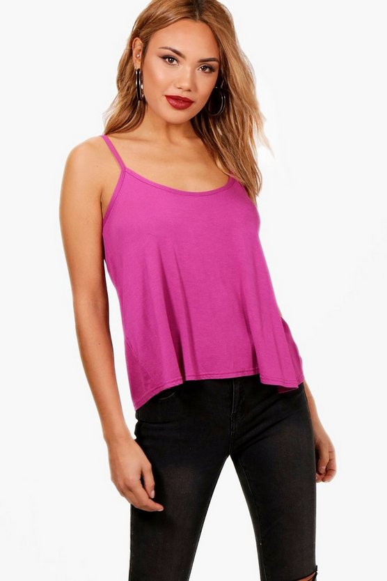 Womens Magenta Basic Swing Cami