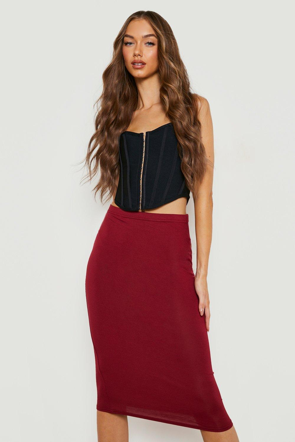 afadc17c2b5 Basic Midi Jersey Tube Skirt. Hover to zoom. Close video