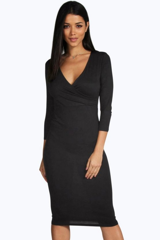 Laura Midi Wrap Dress