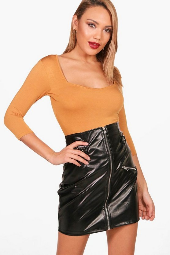 Sweetheart Neck Longline Top