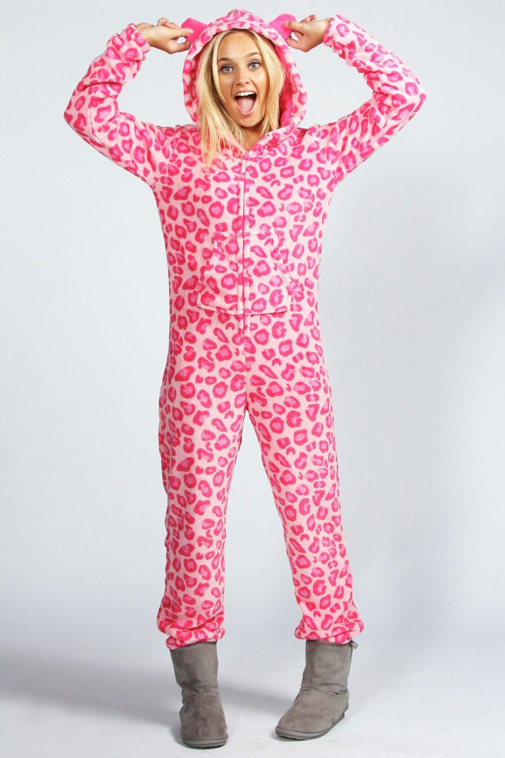 195d51d8e4 Lara Leopard Print Hooded Onesie. Hover to zoom