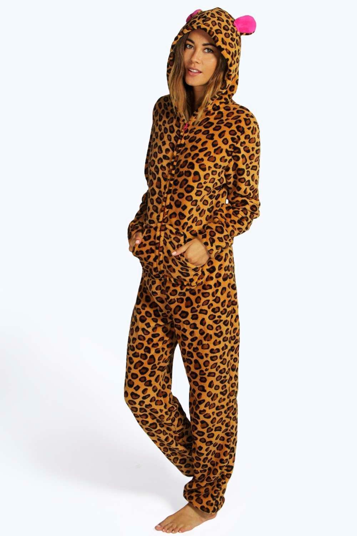 print onesie Leopard