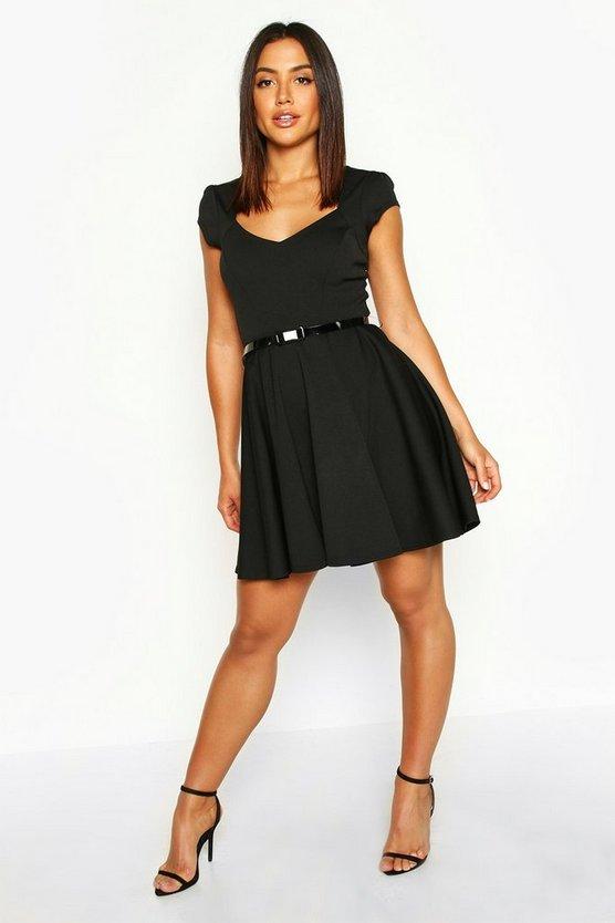 Sweetheart Neck Skater Dress