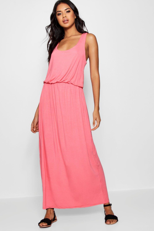 Boohoo vestido largo con espalda de nadador alice para Mujer | eBay