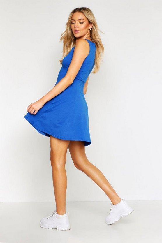 Seam Detail Skater Dress