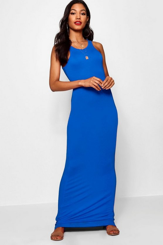 Racer Front Sleeveless Maxi Dress