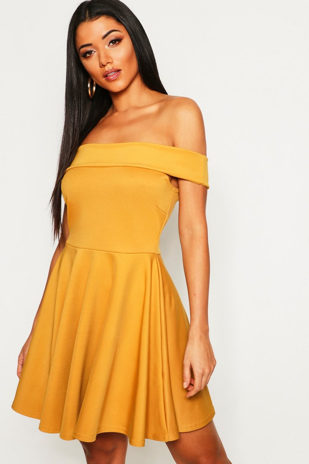 Off The Shoulder Skater Dress  86cc79cfb