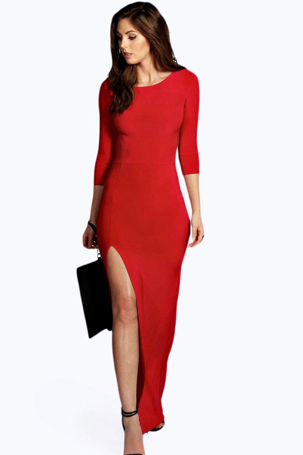 1d185ffed84 Candice Side Split Slinky Maxi Dress