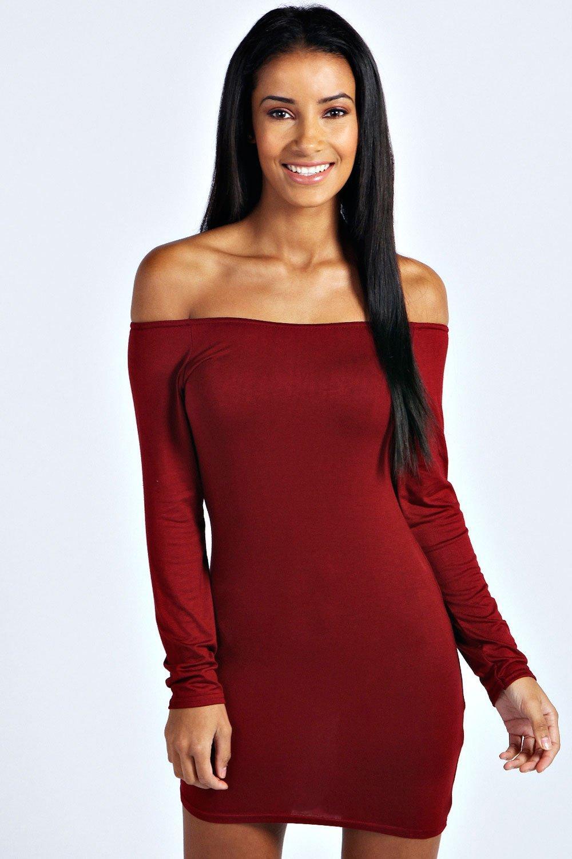 Off the Shoulder Long Sleeve Dress