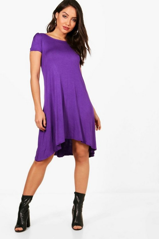 Short Sleeve Jersey Swing Dress