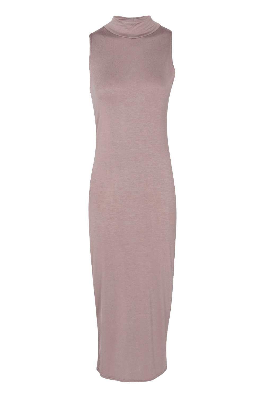 Billie Turtle Neck Sleeveless Midi Bodycon Dress