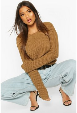 Camel Oversized Vintage Sweater