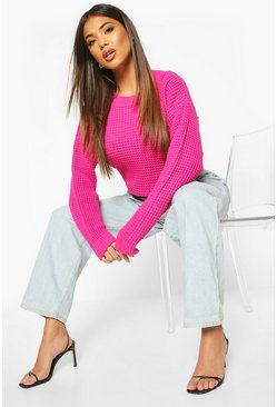 Hot pink Oversized Vintage Jumper