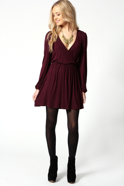 adriana robe cache c ur manches longues en jersey. Black Bedroom Furniture Sets. Home Design Ideas