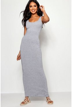 Womens Grey marl Maxi Dress