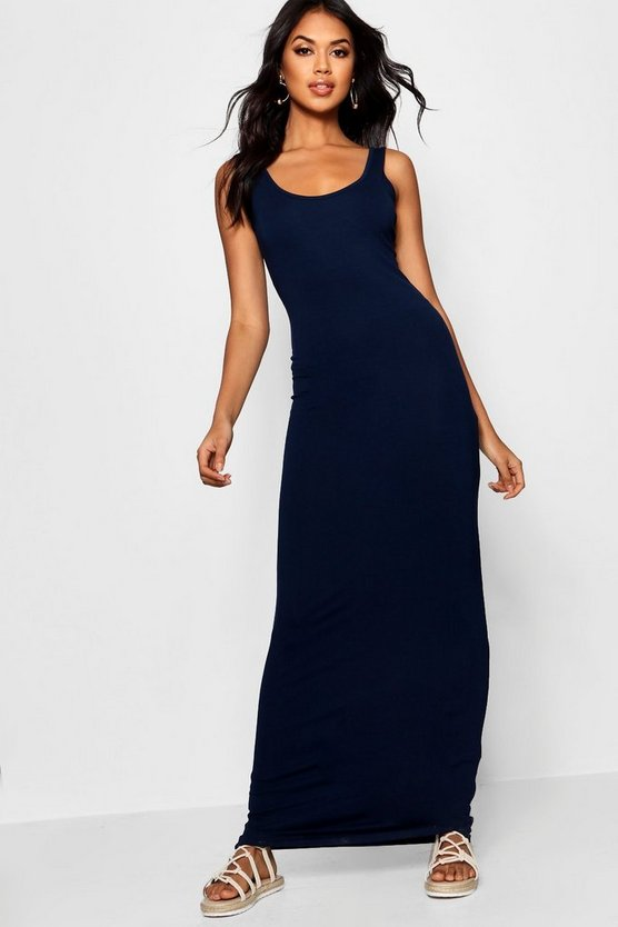 Womens Navy Maxi Dress
