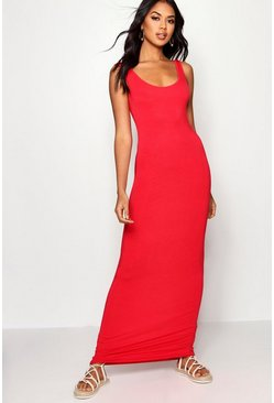 Robe maxi, Rouge