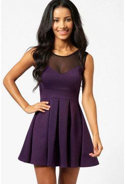 Womens Grape Skater Dress