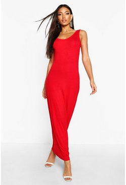 Womens Red Maxi Dress