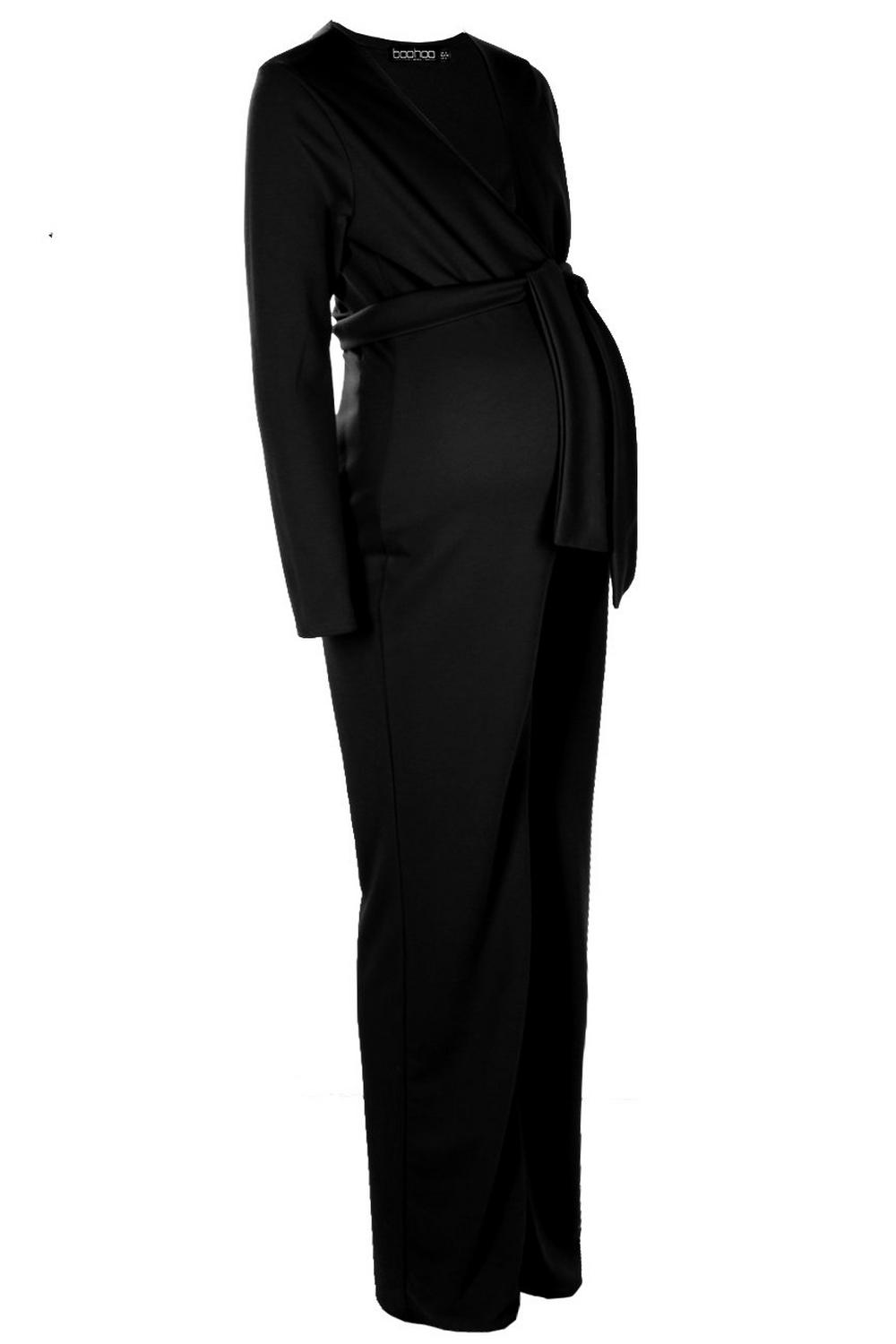 Selecciona Plunge Maternity Jumpsuit Front Tie vqf6Of