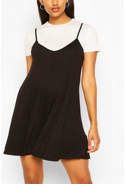 Black Maternity 2 In 1 Flippy Playsuit