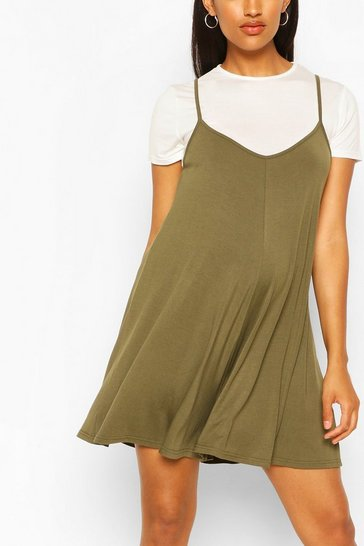 Khaki Maternity 2 In 1 Flippy Playsuit
