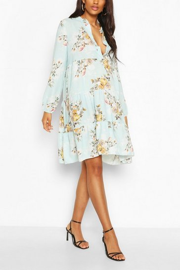 Sky Maternity Floral Woven Smock Dress