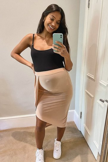 Rose Maternity Wrap Skirt