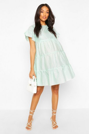 Mint Maternity Polka Dot Smock Dress